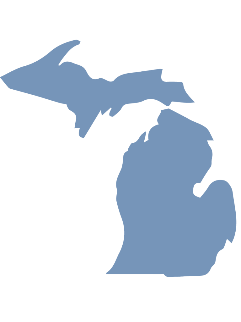 Clipart of the state of Michigan