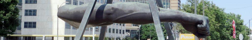 Joe Louis Fist monument