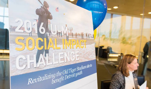 2016 U-M Social Impact Challenge: Revitalizing the Old Tiger Stadium site to benefit Detroit youth.